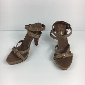 Ugg Collection Taupe Gjelina Platform Sandals